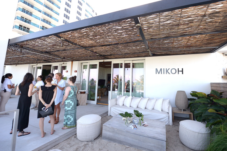 MIAMI, FL - JULY 17: A view of guests on the patio at MIKOH 2017 Collection at Miami Swim Week at 1 Hotel South Beach on July 17, 2016 in Miami, Florida. (Photo by Gustavo Caballero/Getty Images for MIKOH )
